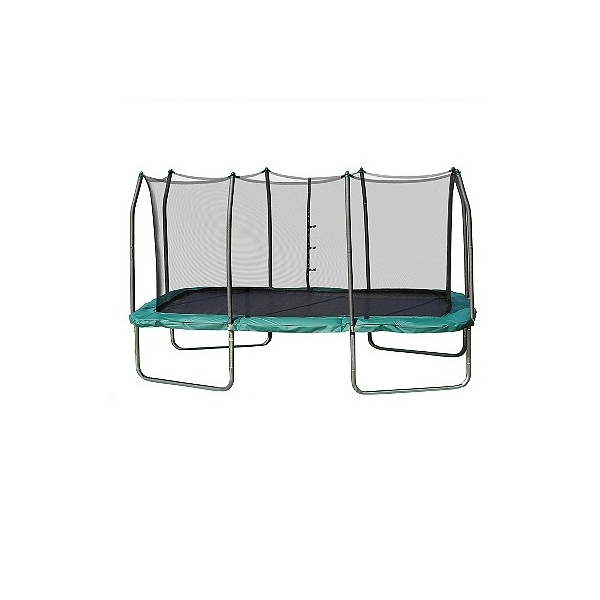 Skywalker Trampolines Skywalker Rectangle Trampoline with Enclosure - Green (14'), Adult Unisex