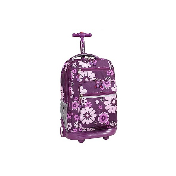 J-World J World 20 Sundance Rolling Backpack with Laptop Sleeve - Purple
